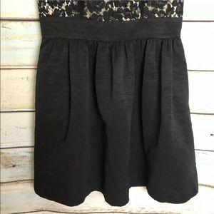 Eliza J Dresses - Eliza J Lace & Faille Fit N Flare Dress Black